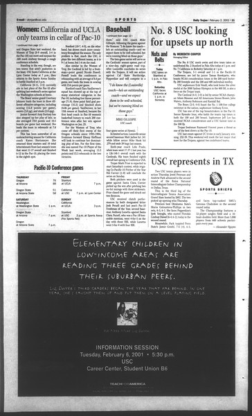 Daily Trojan, Vol. 142, No. 17, February 02, 2001