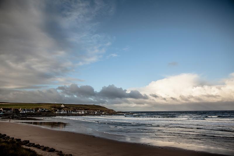 Sandend Bay, Sandend, Aberdeenshire, Scotland.