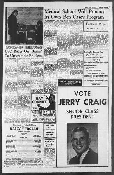 Daily Trojan, Vol. 54, No. 88, March 25, 1963