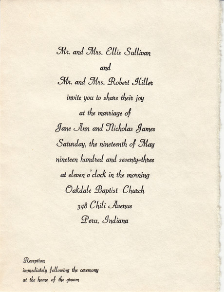 Nick & Jane Hiller - Wedding Invitation - May 19, 1973.jpg