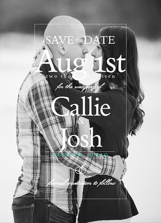 Callie & Josh Save The Date Cards