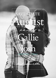 Callie & Josh Save The Date Cards
