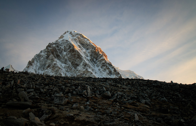 Sunrise just touching Pumori from Kala Patthar