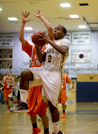 2/16/2012 - Boys Varsity Basketball - Newton North vs Needham