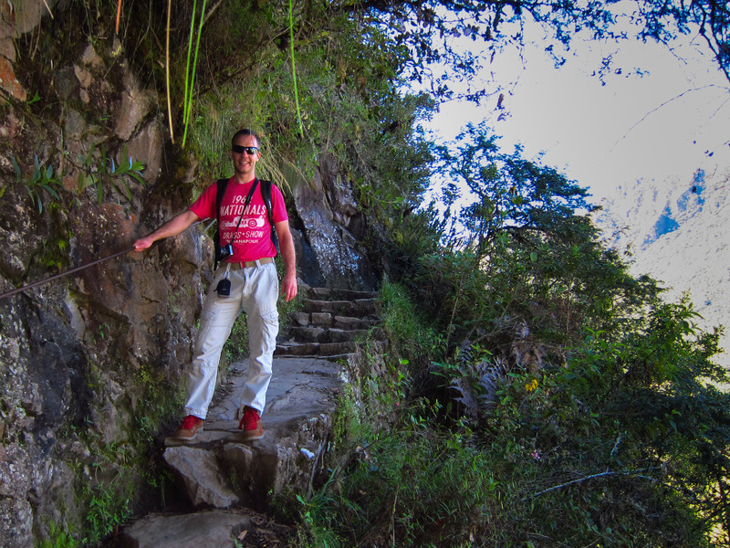 Hiking up to Huayna Picchu