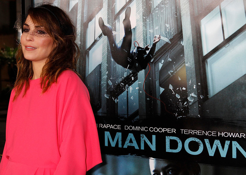""". Swedish actress Noomi Rapace poses at the premiere of her new film \""""Dead Man Down\"""" in Hollywood, California February 26, 2013. REUTERS/Fred Prouser"""