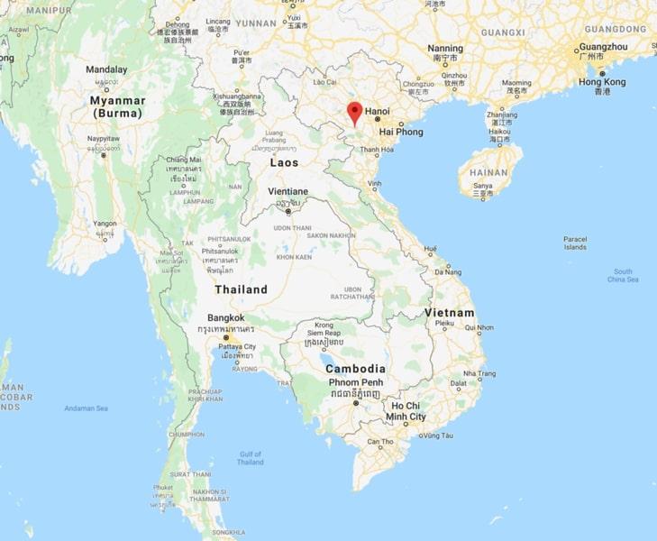 Map of mai chau vietnam