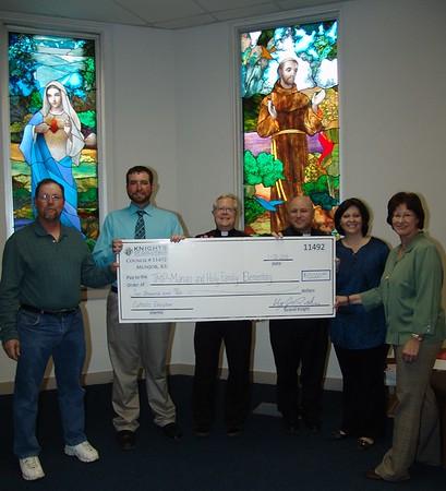 Knights of Columbus Donation 2015