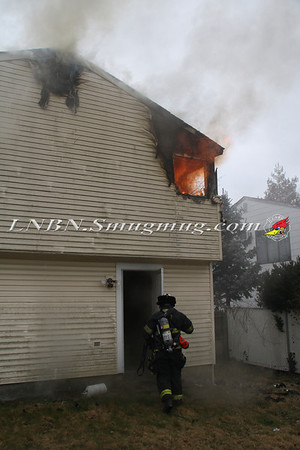 Copiague F.D. Working House Fire 298 28th St. 1-29-13