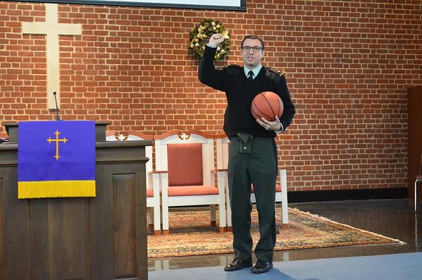 Coach Donahue Briefs Corps