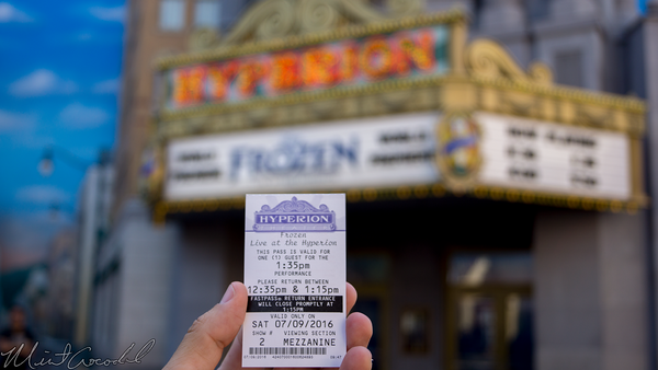 Disneyland Resort, Disney California Adventure, Hollywood Land, Hollywood, Land, Hyperion, Theater, Frozen, FastPass, Fast, Pass