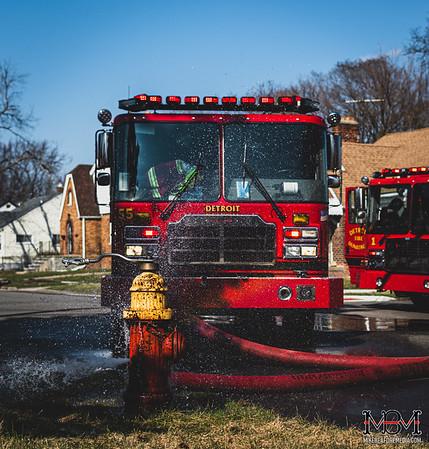 Detroit MI, House Fire 3-25-2020 #2