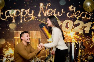 Jasmyne and Cristian 2021 New Years Proposal