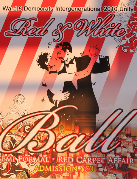 Joyce Scott Annual  Red and White Ball