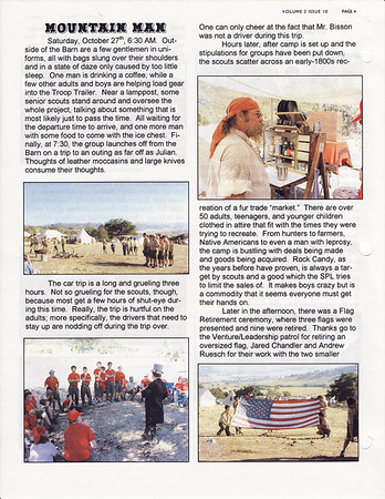 November 2001 Troop Talk - Volume 2, Issue 10