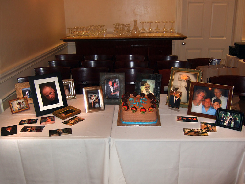 Photographs and cake - Elliot Walsey gravestone unveiling and luncheon