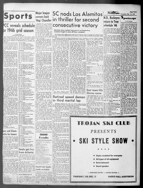 Daily Trojan, Vol. 37, No. 30, December 13, 1945