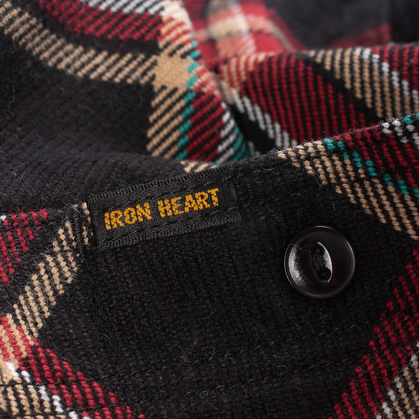 Black Crazy Check Ultra Heavy Flannel Work Shirt--6.jpg