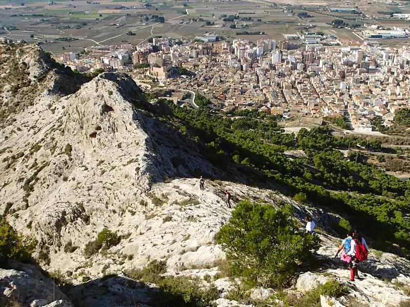 Descent from the Castillo de Salvatierra Via Ferrata