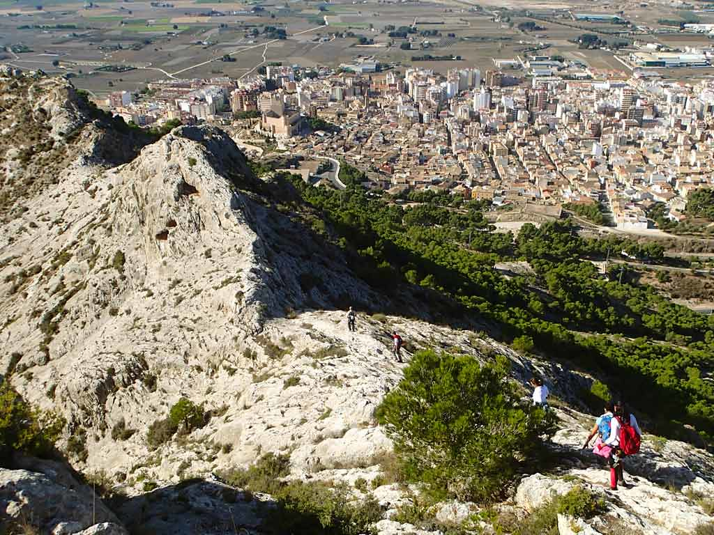 Descent from the Castillo de Salvatierra Via Ferrata