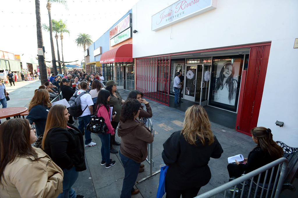 . Dec. 9 marks the one year anniversary of the death of singer Jenni Rivera. Jenni Rivera fans line up outside the Jenni Rivera Boutique in Panorama City,  for the release of her new live album, which was recorder just before her death after her plane crashed in Mexico.  Panorama City Calif., December 3, 2013. 