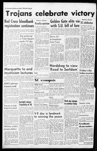Daily Trojan, Vol. 36, No. 117, May 08, 1945