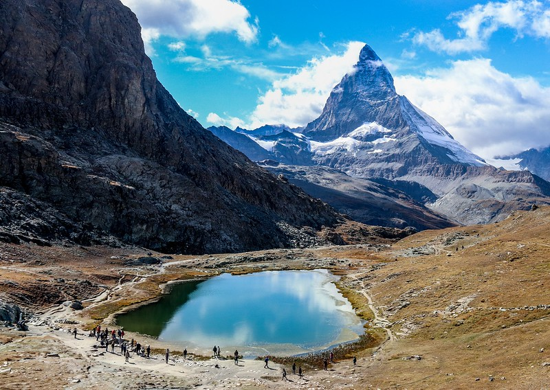 ZbSwitzerland 2019 T7i 956A, SMALL, Lake Rifflesse and Matterhorn from Gornergrat area.jpg