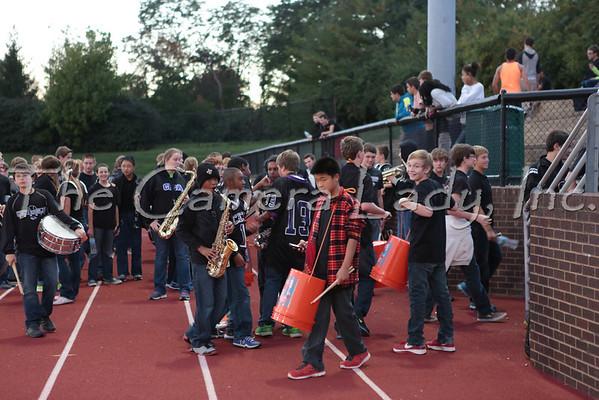 CHCA 2013 HS Pep Band vs Lockland 10.11