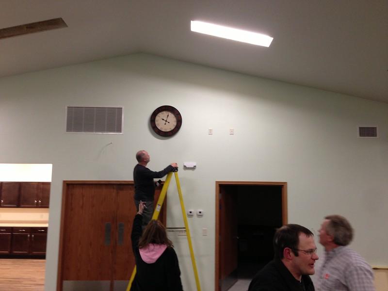 Clock Hanging