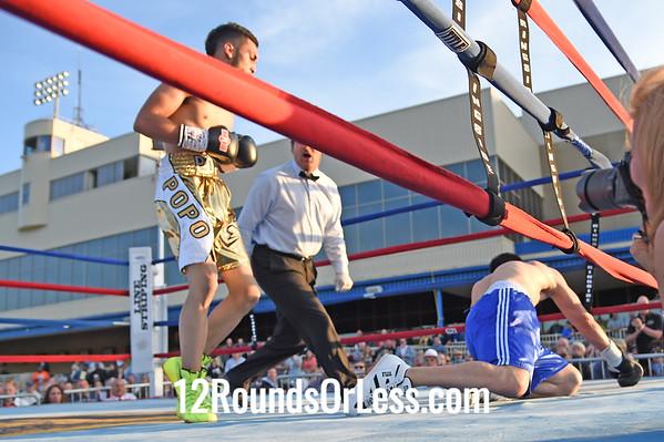 Bout 5 Alejandro POPO Salinas, Gold trunks, Youngstown, OH -vs- Jose Jiminez, Blue trunks, Springfield, MO, Lightweight