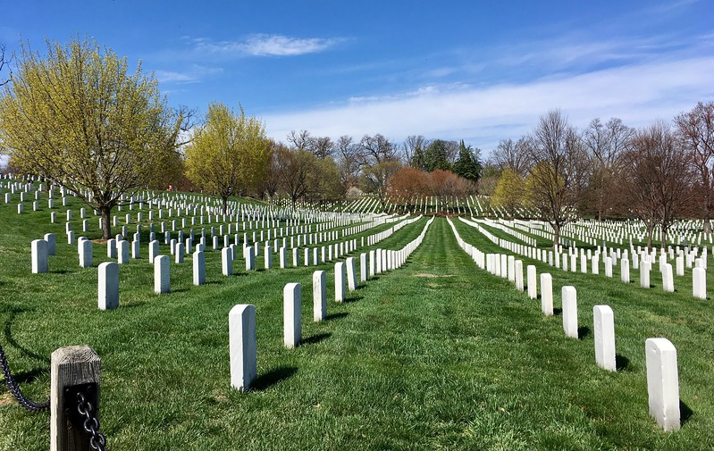 Walking through Arlington National Cemetery