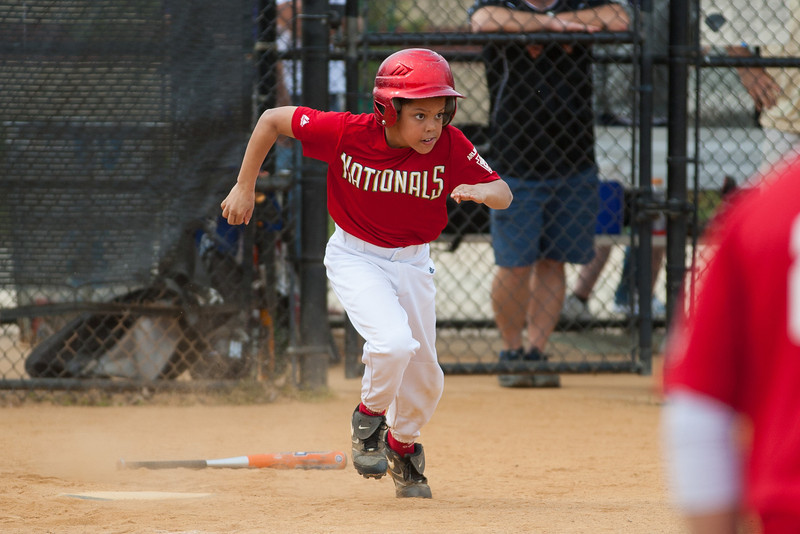 The Nationals started out their season with a 4-1 win over the Pirates. 2012 Arlington Little League Baseball, Majors Division. Nationals vs Pirates (14 Apr 2012) (Image taken by Patrick R. Kane on 14 Apr 2012 with Canon EOS-1D Mark III at ISO 200, f2.8, 1/1600 sec and 200mm)
