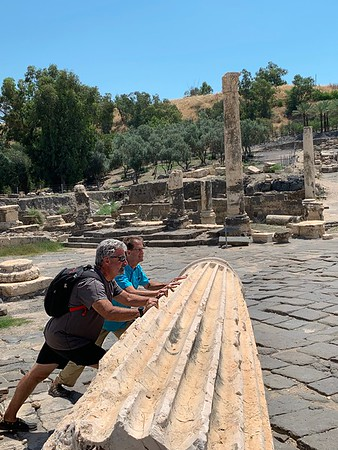 Day 10, Israel - Visits to Qasr el Yahud, Bet She'an, and a winery, ending up at the Sea of Galilee