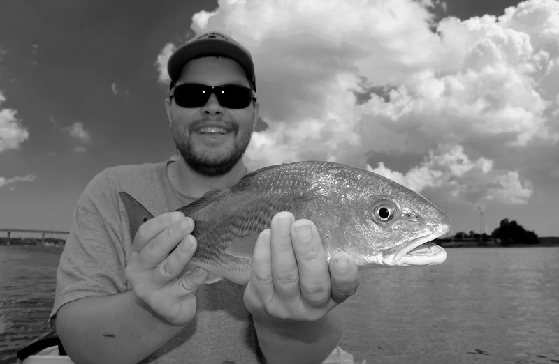 Forrest Bowers Wando River Redfish_2 BW.jpg