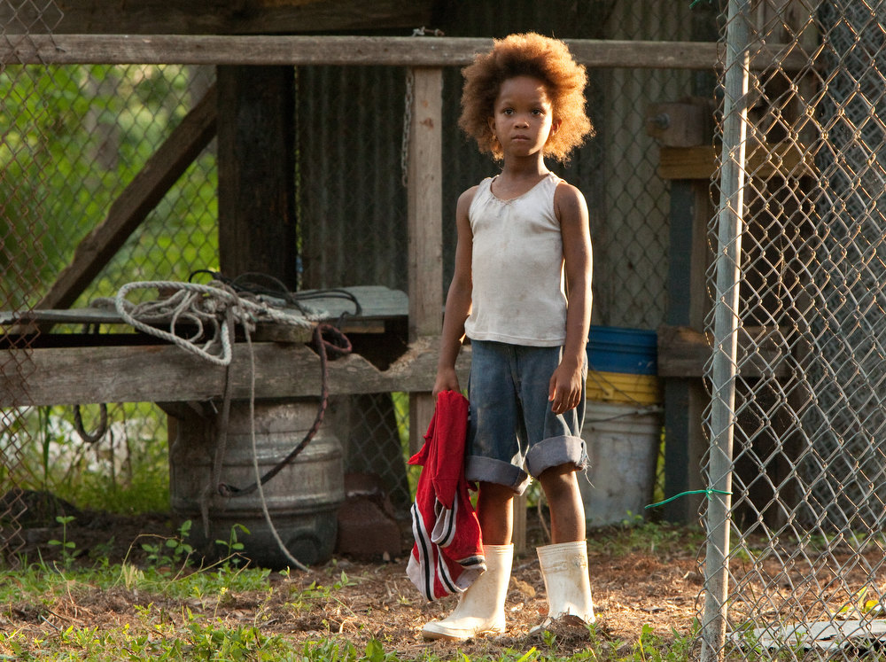 Description of . This film image released by Fox Searchlight Pictures shows Quvenzhane Wallis portraying Hushpuppy in a scene from,