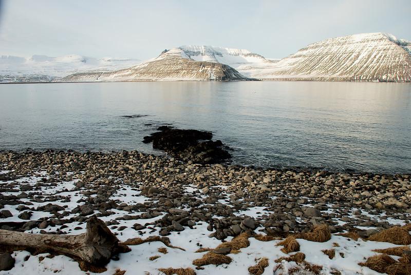 Hornvík. Darinn, Einbúi, Hafnarnes, Rekavík bak Höfn, Atlaskarð og Rekavíkurfjall.