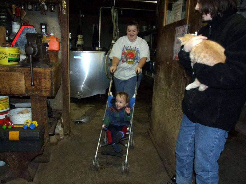 evan in the barn