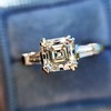 1.17ct Asscher Cut Diamond Tacori Solitaire, GIA G, VS2 8