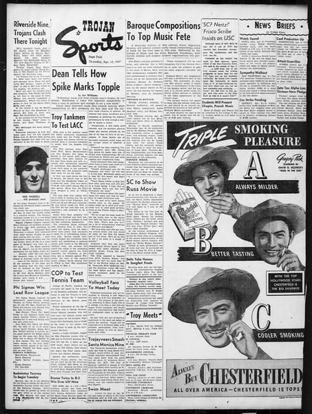 Daily Trojan, Vol. 38, No. 111, April 10, 1947