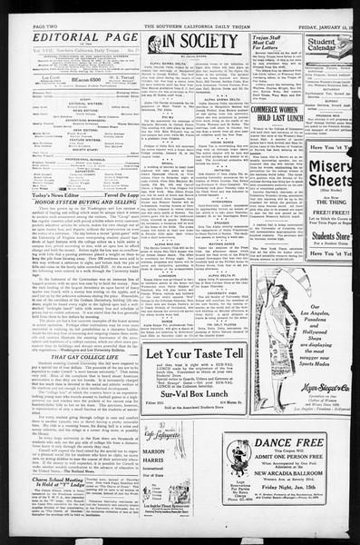 Daily Trojan, Vol. 17, No. 72, January 15, 1926