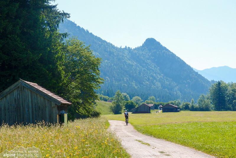 """This wonderful rural road """"Zirmenweg"""" lies between Zirmgrat on the left and river Zirmen on the left"""