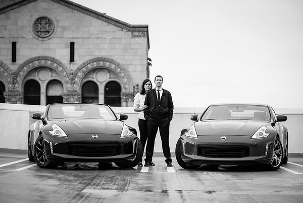 Sarah and Dave and two 370z's