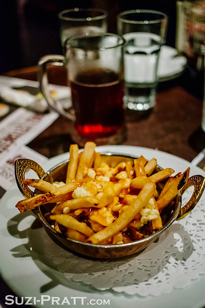 Poutine in Old Montreal, Quebec, Canada