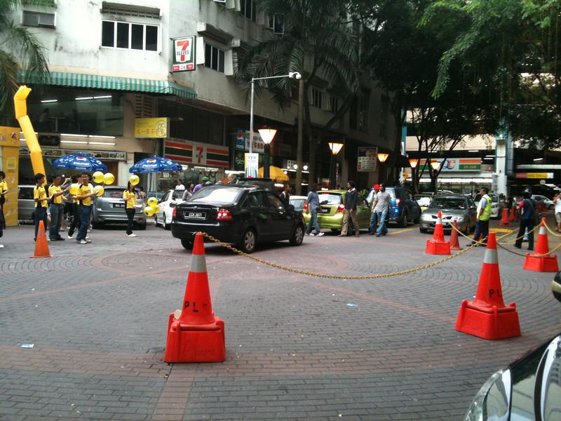 Gridlock in front of Low Yat.