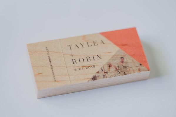 Taylea + Robin Printed Wood USB