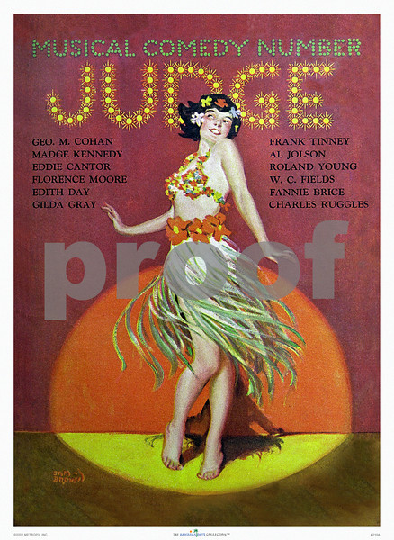 210: 'Judge' Musical Comedy Number Magazine. Ca 1940's. (PROOF watermark will not appear on your print)