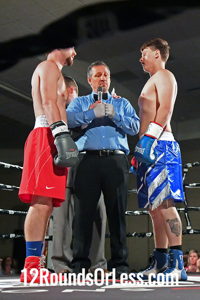 Zack Odell, Black Gloves, Mingo, OH -vs- Broc Eakle, Blue Gloves, Steubenville, OH, 160 Lbs