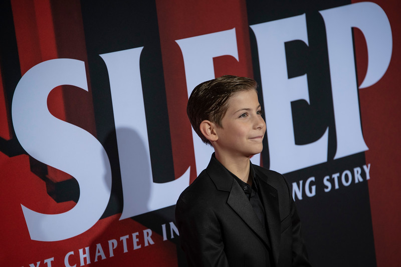 "LOS ANGELES, CALIFORNIA - OCTOBER 29: Jacob Tremblay attends the premiere of Warner Bros Pictures' ""Doctor Sleep"" at Westwood Regency Theater on Tuesday October 29, 2019 in Los Angeles, California. (Photo by Tom Sorensen/Moovieboy Pictures,)"