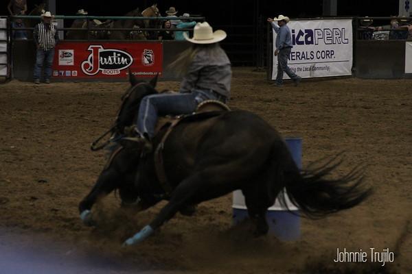 2018 PRCA Rodeo Barrels Friday