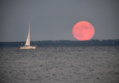 moonrise and sailboat